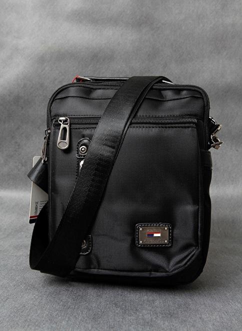 Pascal Polo %100 Deri Messenger / Askılı Çanta Siyah